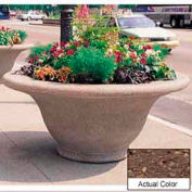 Wausau TF4302 Round Outdoor Planter - Weatherstone Brown 80x35