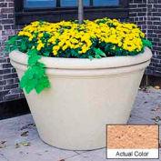Wausau TF4305 Round Outdoor Planter - Weatherstone Cream 60x38