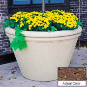 Wausau TF4305 Round Outdoor Planter - Weatherstone Brown 60x38