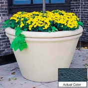 Wausau TF4305 Round Outdoor Planter - Weatherstone Charcoal 60x38