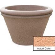 Wausau TF4307 Round Outdoor Planter - Weatherstone Cream 30x20