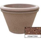 Wausau TF4307 Round Outdoor Planter - Weatherstone Brown 30x20