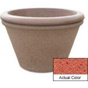 Wausau TF4307 Round Outdoor Planter - Weatherstone Brick Red 30x20