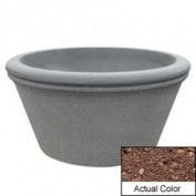 Wausau TF4309 Round Outdoor Planter - Weatherstone Brown 72x38