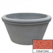 Wausau TF4309 Round Outdoor Planter - Weatherstone Brick Red 72x38