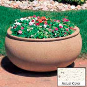 Wausau TF4340 Oval Outdoor Planter - Weatherstone White 36x30x18