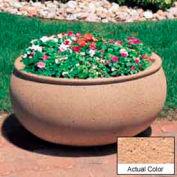 Wausau TF4340 Oval Outdoor Planter - Weatherstone Cream 36x30x18