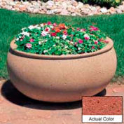 Wausau TF4340 Oval Outdoor Planter - Weatherstone Brick Red 36x30x18