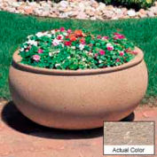 Wausau TF4341 Oval Outdoor Planter - Weatherstone Buff 42x36x20