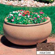 Wausau TF4341 Oval Outdoor Planter - Weatherstone Brown 42x36x20