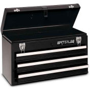 Waterloo MP-2012BK Metal Portable 3-Drawer Portable Chest - Black