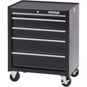 "Waterloo SCA-265BK-B Shop Series 26-1/2""W X 18""D X 32""H 5 Drawer Black Roller Cabinet"