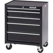 Waterloo SCA-265BK-B Ball Bearing 5-Drawer Cabinet - Black