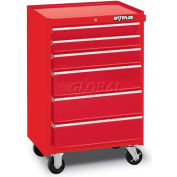 Waterloo WCA-266RD 6-Drawer Cabinet - Red