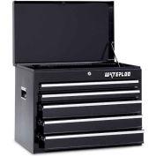 Waterloo WCH-265BK 5-Drawer Chest - Black