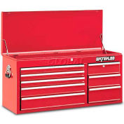 """Waterloo WCH-418RD Waterloo Series 40-1/2""""W X 16""""D X 20""""H 8 Drawer Red Top Chest"""