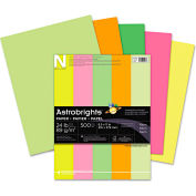 """Neenah Paper Astrobrights Colored Paper 20270, 8-1/2"""" x 11"""", Neon Assorted, 500 Sheets/Ream"""