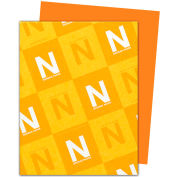 "Neenah Paper Astrobrights Colored Card Stock 22761, 8-1/2"" x 11"", Orbit Orange™, 250/Pack"
