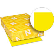 "Colored Paper - Neenah 22531 - Solar Yellow - 8-1/2"" x 11"" - 24 lb. - 500 Sheets"