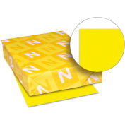 "Neenah Paper Astrobrights Card Stock Paper, 8-1/2"" x 11"", Solar Yellow, 250 Sheets/Pack"