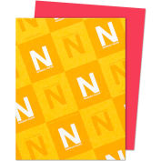 """Neenah Paper Astrobrights Card Stock Paper, 8-1/2"""" x 11"""", Re-Entry Red, 250 Sheets/Pack"""