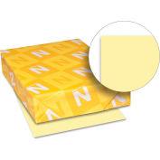 "Neenah Paper Exact Vellum Bristol Paper, 8-1/2"" x 11"", 67 lb, Vellum, Yellow, 250 Sheets/Pack"