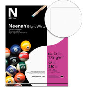 "Neenah Paper Card Stock Paper, 8-1/2"" x 11"", 65 lb, Smooth, Bright White, 250 Sheets/Pack"