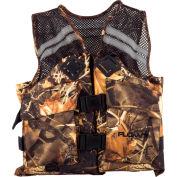 Flowt 40627-L/XL Fishing Vest, Mesh, Camo, Large/X-Large