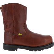 "Iron Age® IA0195 Men's 10"" Wellington Flex-Met Leather Boot w/ Side Zipper, Brown, Size 12 M"