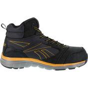 Reebok® RB4305 Men's Classic Performance Hi Top Boots, Black w/ Copper Trim, Size 12 M