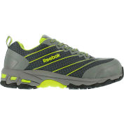 Reebok® RB4520 Men's Heckler Gray and Lime Sport Oxford, Gray/Lime, Size 11 W