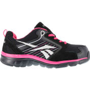 Reebok® RB454 Women's Sports Series Athletic Shoes, Black & Pink w/ Silver Trim, Size 7 M