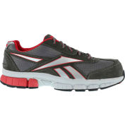 Reebok® RB4890 Men's Performance Cross Trainer Shoes, Gray & Red, Size 9.5 M
