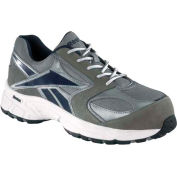 Reebok® RB4896 Men's Performance Cross Trainer Shoes, Gray & White w/ Blue Trim, Size 8 W