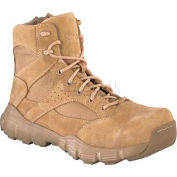 "Reebok® RB8621 Men's 6"" Tactical Boot With Side Zipper, Desert Tan, Size 6.5 W"
