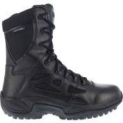"""Reebok® RB877 Women's Stealth 8"""" Waterproof Boot With Side Zipper, Black, Size 12 W"""