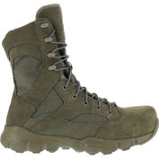 "Reebok® RB8835 Men's 8"" Tactical Boot With Side Zipper, Sage Green, Size 10 M"