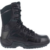 "Reebok® RB8874 Men's Stealth 8"" Boot With Side Zipper, Black, Size 5 W"
