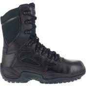 "Reebok® RB8875 Men's Stealth 8"" Boot With Side Zipper, Black, Size 3.5 W"
