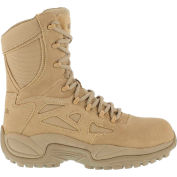 "Reebok® RB8894 Men's Stealth 8"" Boot With Side Zipper, Desert Tan, Size 7.5 M"
