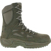 "Reebok® RB8990 Men's Stealth 8"" Boot With Side Zipper, Sage Green, Size 6 M"