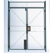 """WireCrafters® 840 Style, Woven Wire Double Hinged Door, 6'W x 7'H, 12' 5-1/4"""" Overall Height"""
