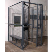 WireCrafters® 840 Style, 2 sided Driver Cage, No Ceiling 3'W x 6'D x 8'H