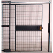 """WireCrafters® 840 Style, Woven Wire Slide Door, 6'W x 8'H, 12' 5-1/4"""" Overall Height"""