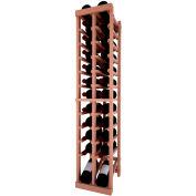 Individual Bottle Wine Rack - 2 Column W/Lower Display, 4 ft high - Mahogany, All-Heart Redwood