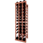 Individual Bottle Wine Rack - 3 Column W/Lower Display, 4 ft high - Mahogany, All-Heart Redwood