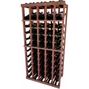 Individual Bottle Wine Rack - 5 Column W/Top Display, 4 ft high - Mahogany, All-Heart Redwood