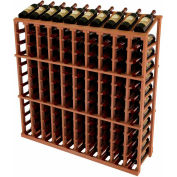 Vintner Commercial 10 Column Merchandiser W/Individual Bottle Rails - All-Heart Redwood, Mahogany