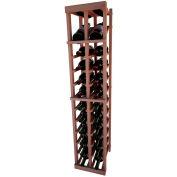 Individual Bottle Wine Rack - 2 Column W/Top Display, 4 ft high - Walnut, All-Heart Redwood