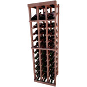 Individual Bottle Wine Rack - 3 Column W/Top Display, 4 ft high - Walnut, All-Heart Redwood